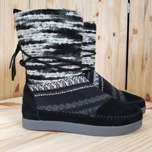 TOMS Nepal Knit Suede Leather Boho Boots :932